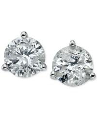 Macy's Certified Diamond Stud Earrings (3/4 Ct. T.w.) In ...