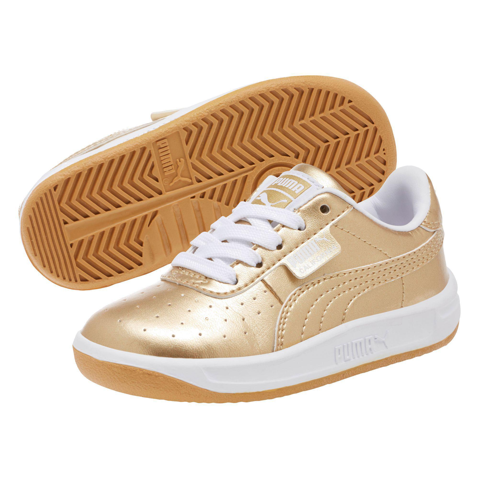 Infant Sneakers Puma California Metallic Infant Sneakers In Metallic Lyst