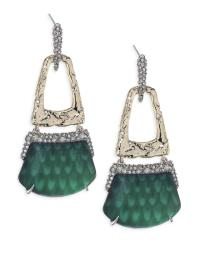 Lyst - Alexis Bittar Lucite Rocky Buckle Swing Earrings in ...