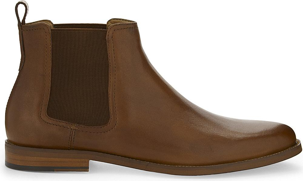 Lyst Aldo Delano Leather Chelsea Boots In Brown