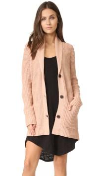 Lyst - Atm Shawl Collar Sweater Coat