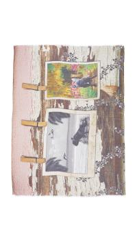 Lyst - Yigal azroul Printed Scarf in Pink