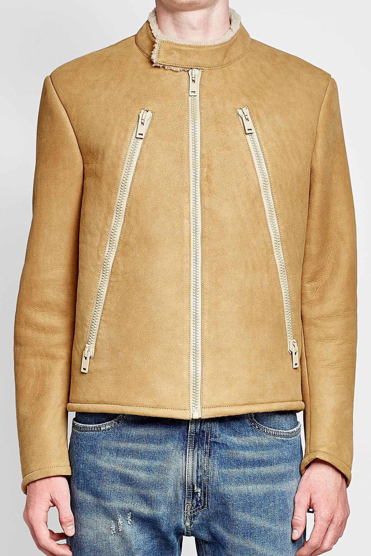 Lyst Maison Margiela Shearling Jacket For Men