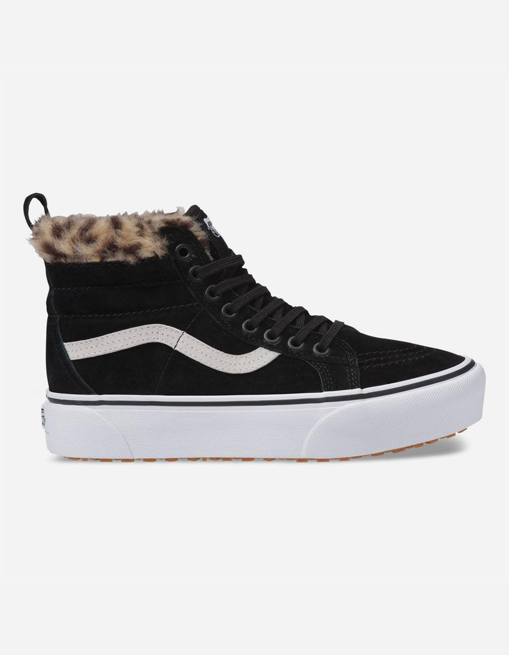 Fur Womens Sk8 Hi Platform Mte Black Leopard Fur Womens Shoes