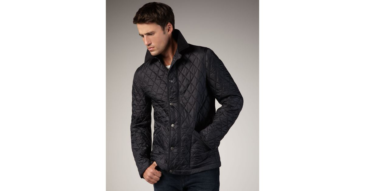 double jacket mens biker black breasted quilted burberry quilt leather prorsum