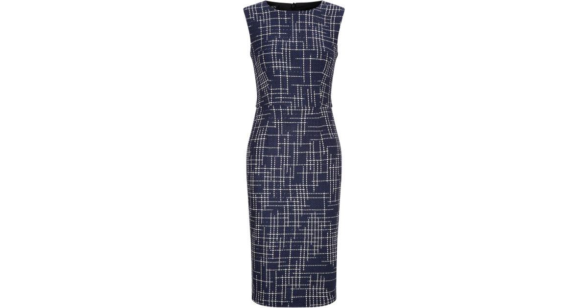 Baukjen Fullerton Tweed Dress In Blue Lyst