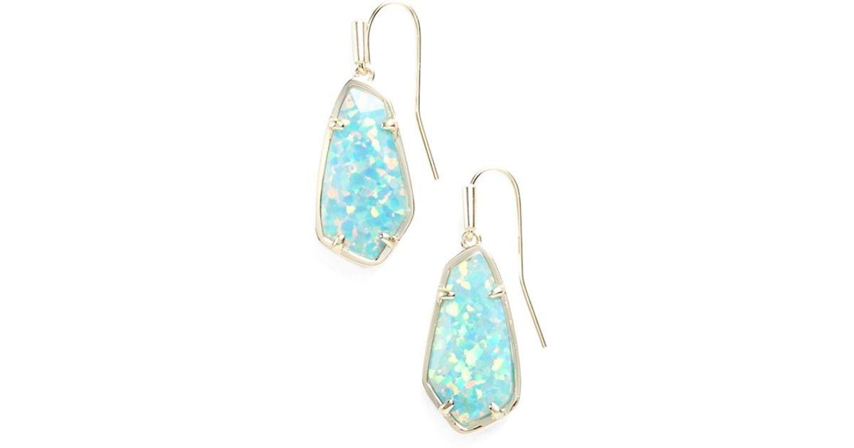 Lyst Kendra Scott 39camelia39 Drop Earrings In Blue
