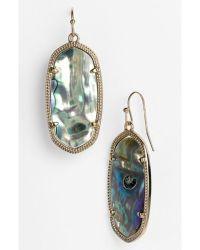 Kendra scott 'elle' Drop Earrings - Abalone Shell/ Gold in ...