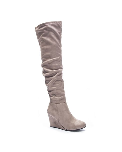 Chinese Laundry Ultra Thigh High Boot In Grey Lyst