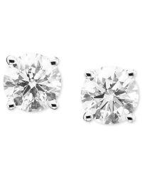 Macy's Diamond Stud Earrings (1/5 Ct. T.w.) In 14k White ...