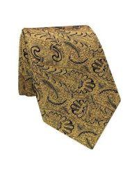 Gitman brothers vintage Paisley Silk Tie in Metallic for ...