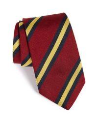 Lyst - Gitman Brothers Vintage Stripe Silk Tie in Red for ...