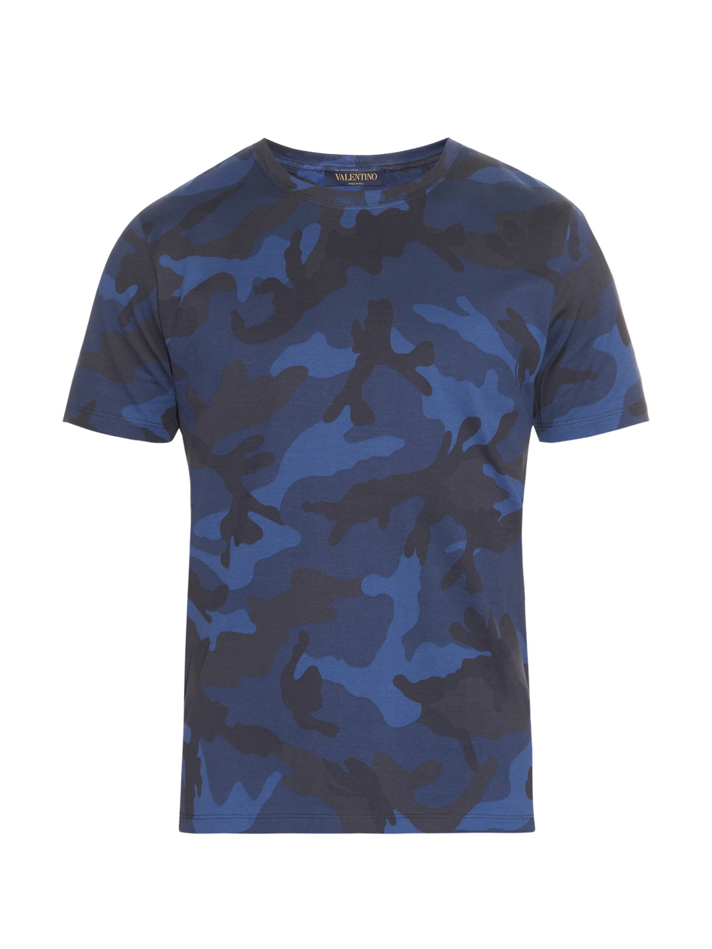 T Short Lyst Valentino Camouflage Print Cotton Jersey T Shirt In