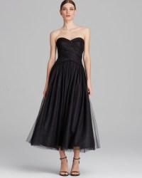 Ml Monique Lhuillier Dress Strapless Tulle Tea Length in ...