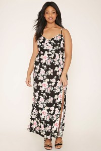 Lyst - Forever 21 Plus Size Floral Maxi Dress in Black