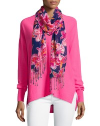Lyst - Lilly Pulitzer Lilly Floral-print Scarf in Blue