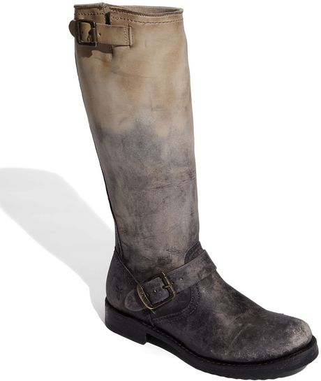 Frye Veronica Slouch Engineer Boot In Gray Stone Lyst