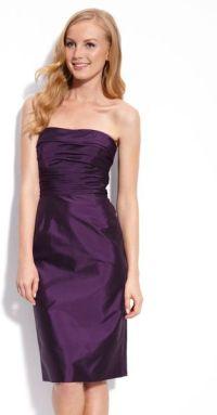 Ml Monique Lhuillier Bridesmaids Strapless Taffeta Dress ...