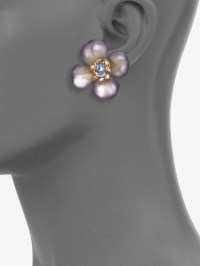 Alexis bittar Swarovski Crystal Accented Lucite Floral ...