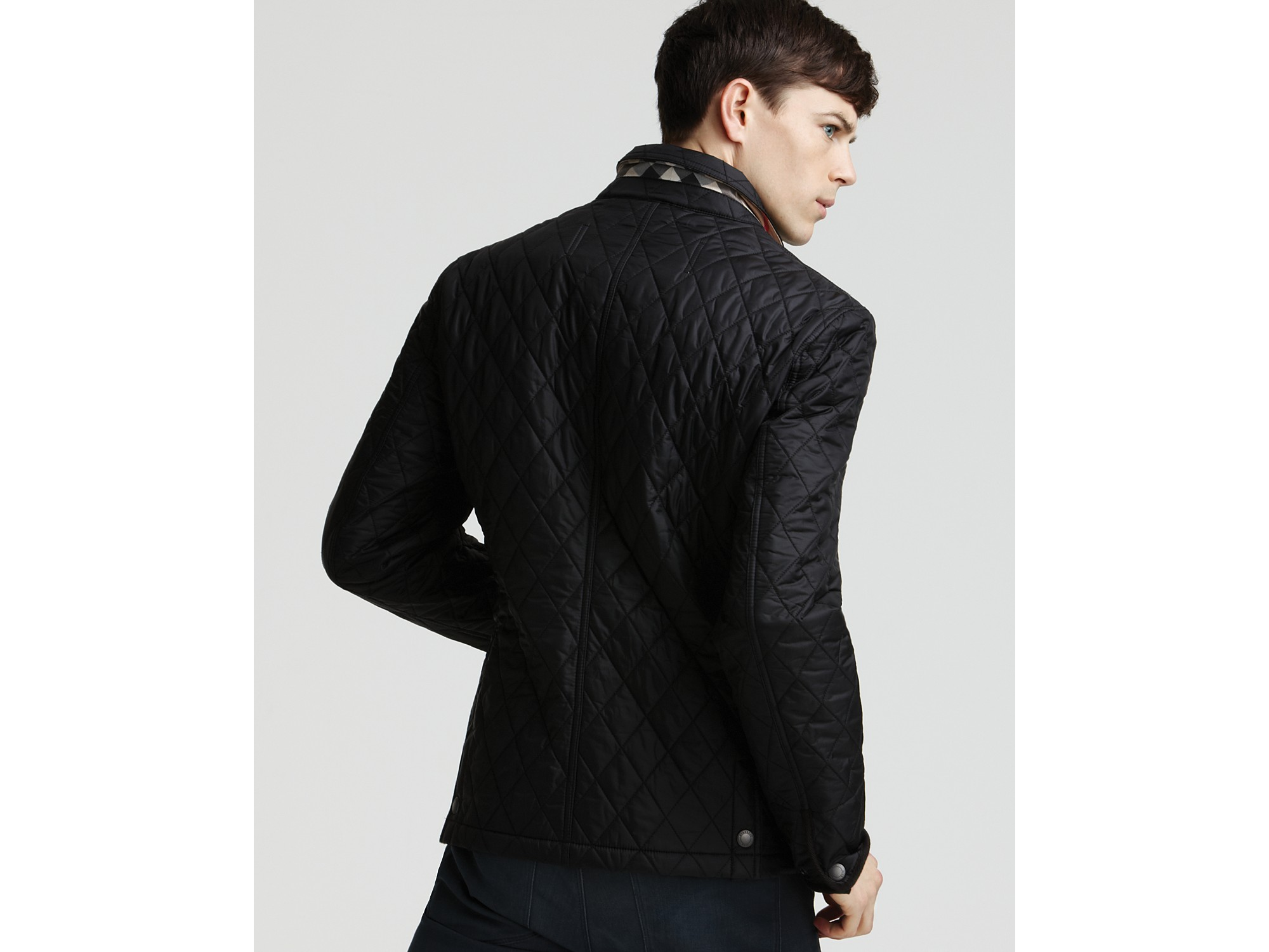 mens sheffield jacket quilt diamond slate brit at russell burberry green dp bomber in quilted
