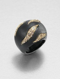 Alexis bittar Durban Striped Dome Ring in Black