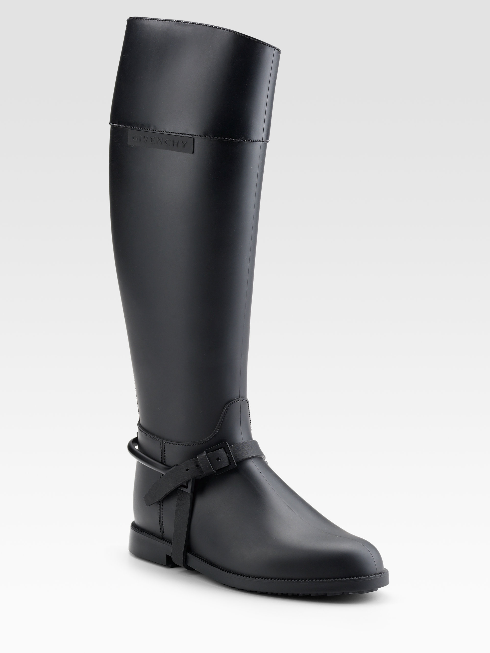 Givenchy Tall Rubber Rainboots In Black Lyst