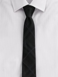 Lyst - Burberry Tonal-check Silk Tie in Black for Men