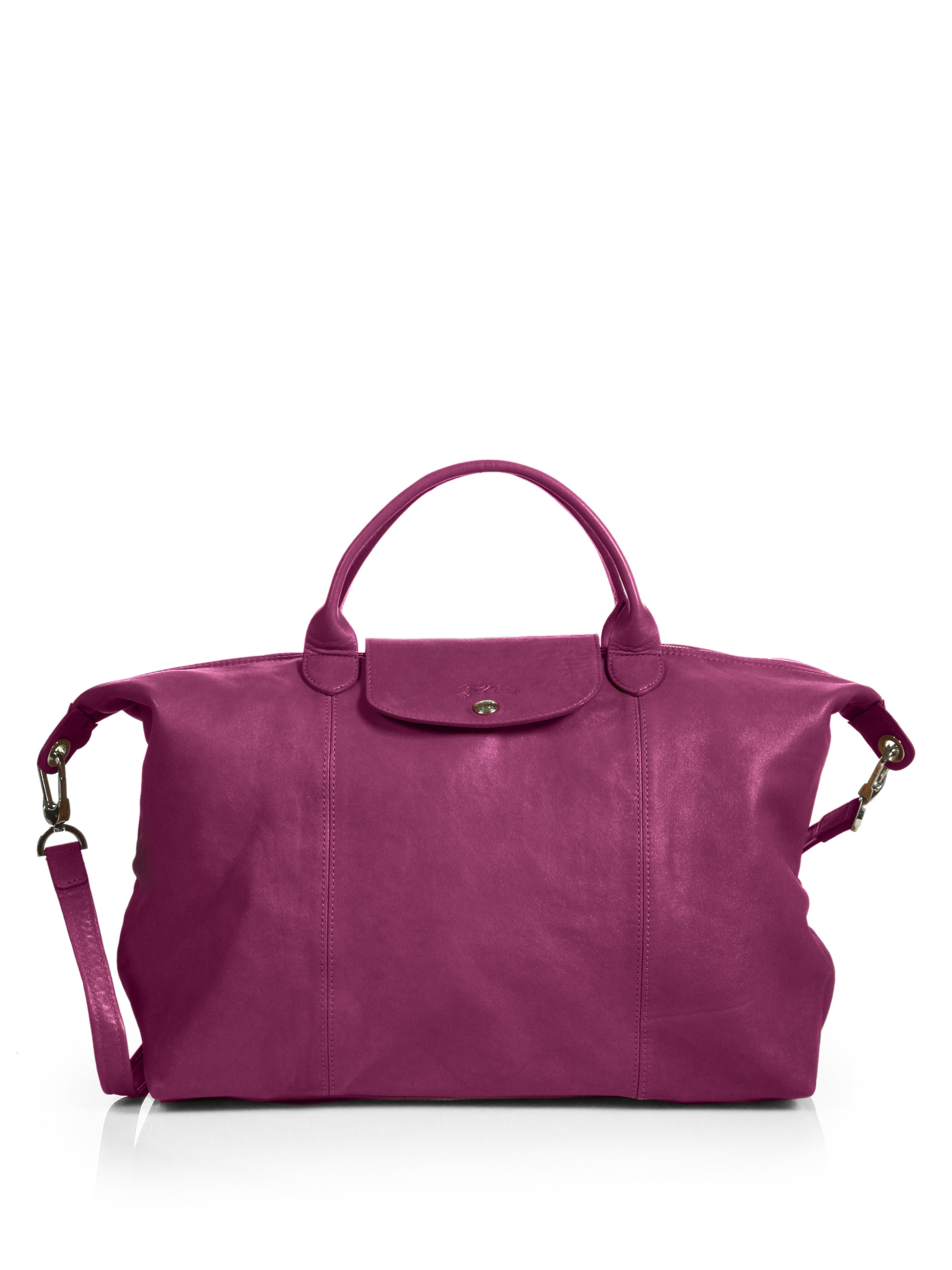 longchamp new le pliage cuir bag
