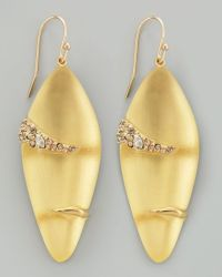 Alexis Bittar Durban Small Lucite Earrings in Gold | Lyst