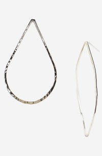 Argento Vivo Hammered Teardrop Hoop Earrings in Silver | Lyst