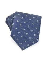 Lyst - Forzieri Small Paisley Woven Silk Tie in White for Men