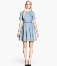 H&m Denim Dress in Blue | Lyst