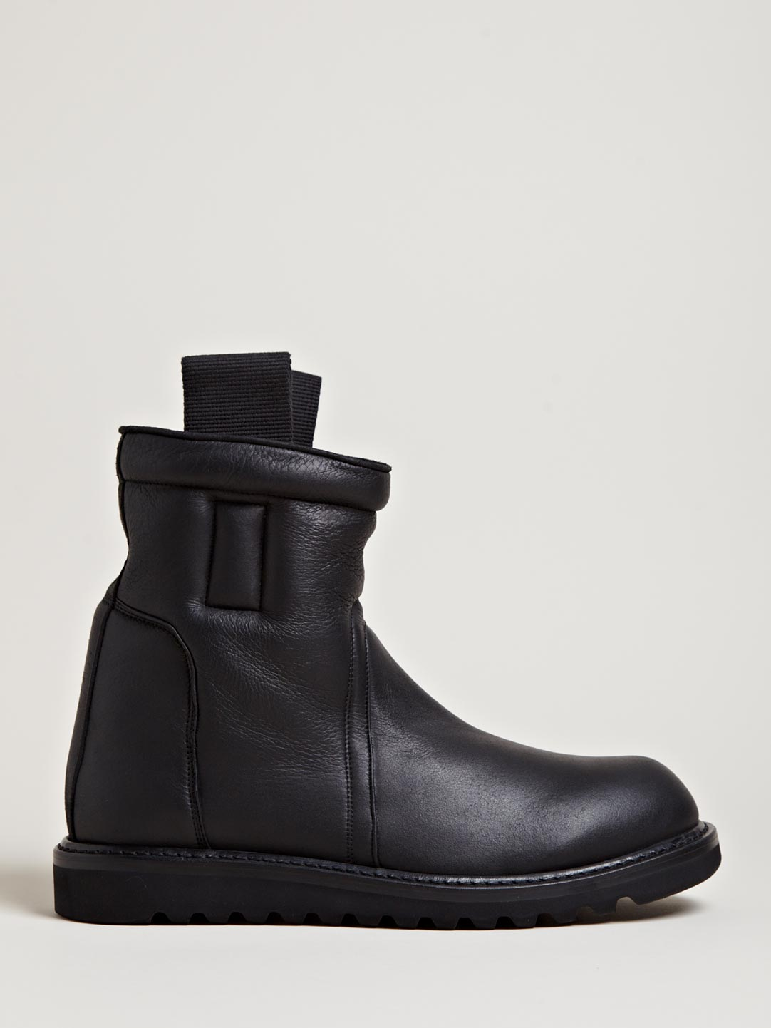 Hogan Mens Shoes Rick Owens Mens Shearling Lined Boots In Black For Men | Lyst