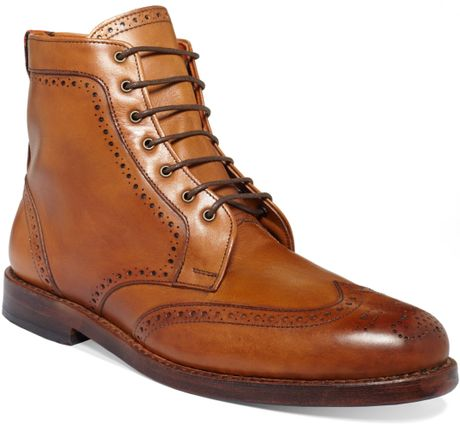 Allen Edmonds Dalton Wingtip Boots In Brown For Men
