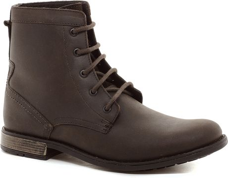 Vans Workboots In Leather In Brown For Men Lyst