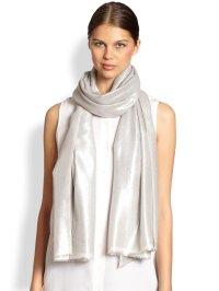 Lyst - Bajra Glitter Twill Weave Scarf in Metallic