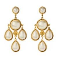 Ben Amun Pearl Chandelier Earrings in Gold (pearl) | Lyst