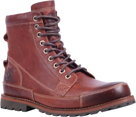 Timberland Earthkeeper 6inch Leather Lace Up Boots In Red