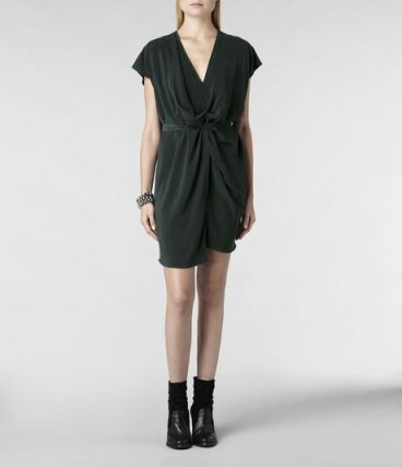 Allsaints Dee Dee Dress in Green (Bottle Green) - Lyst