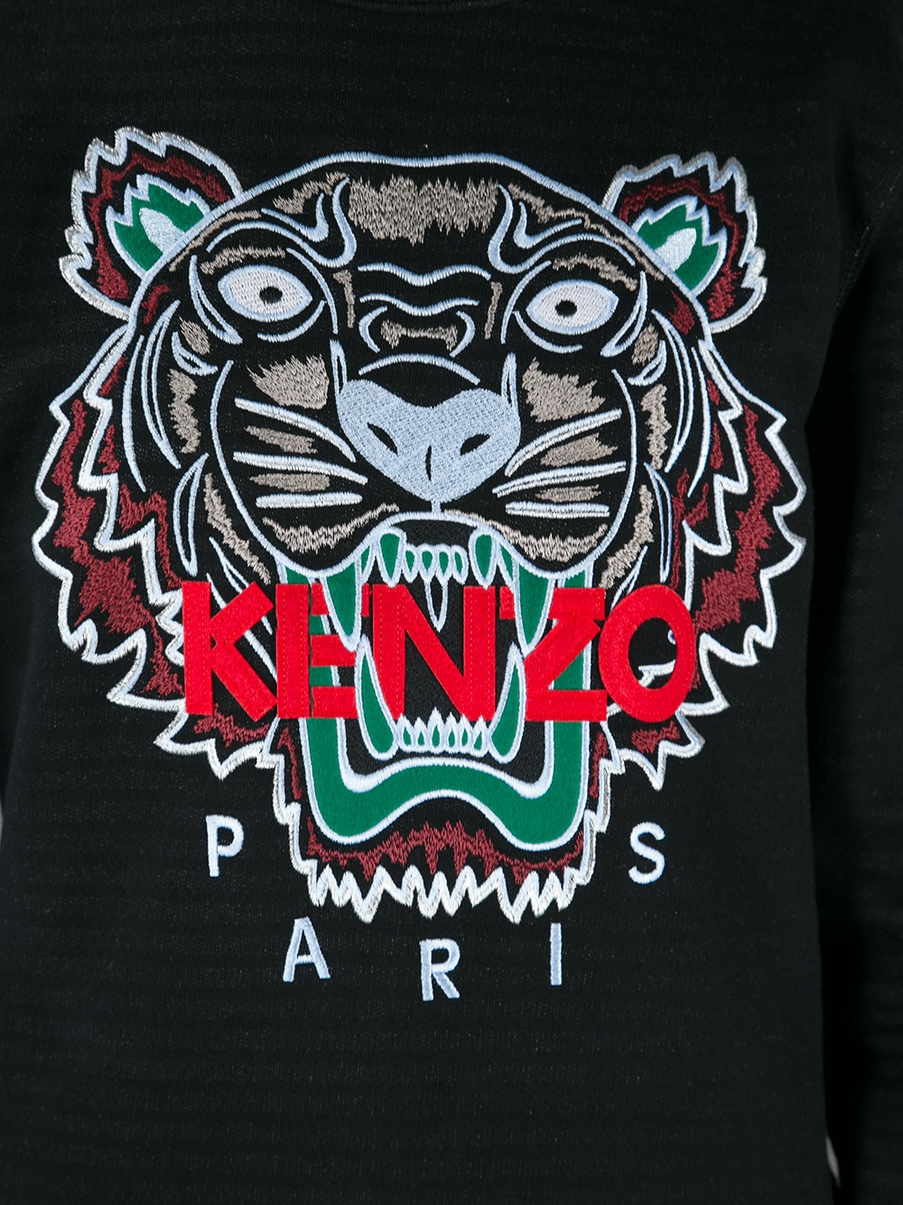 Black Rose Iphone Wallpaper Kenzo Slogan Tiger Print Sweatshirt In Black For Men
