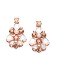 Lyst - Kate Spade New York Faceted Chandelier Earrings in Pink