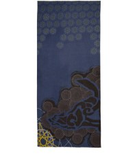 Lyst - Yarnz Blue Atoms Cashmere Scarf in Blue