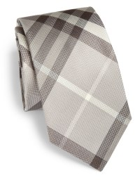Burberry Exploded Check Silk Tie in Beige for Men | Lyst