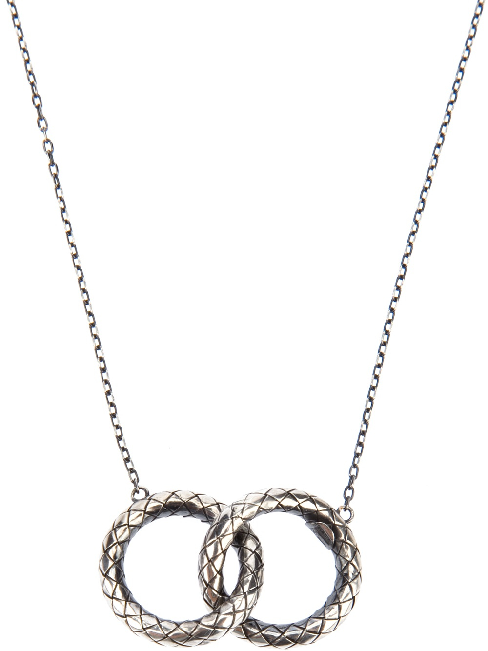 Bottega Veneta Woven Link Necklace In Silver Lyst