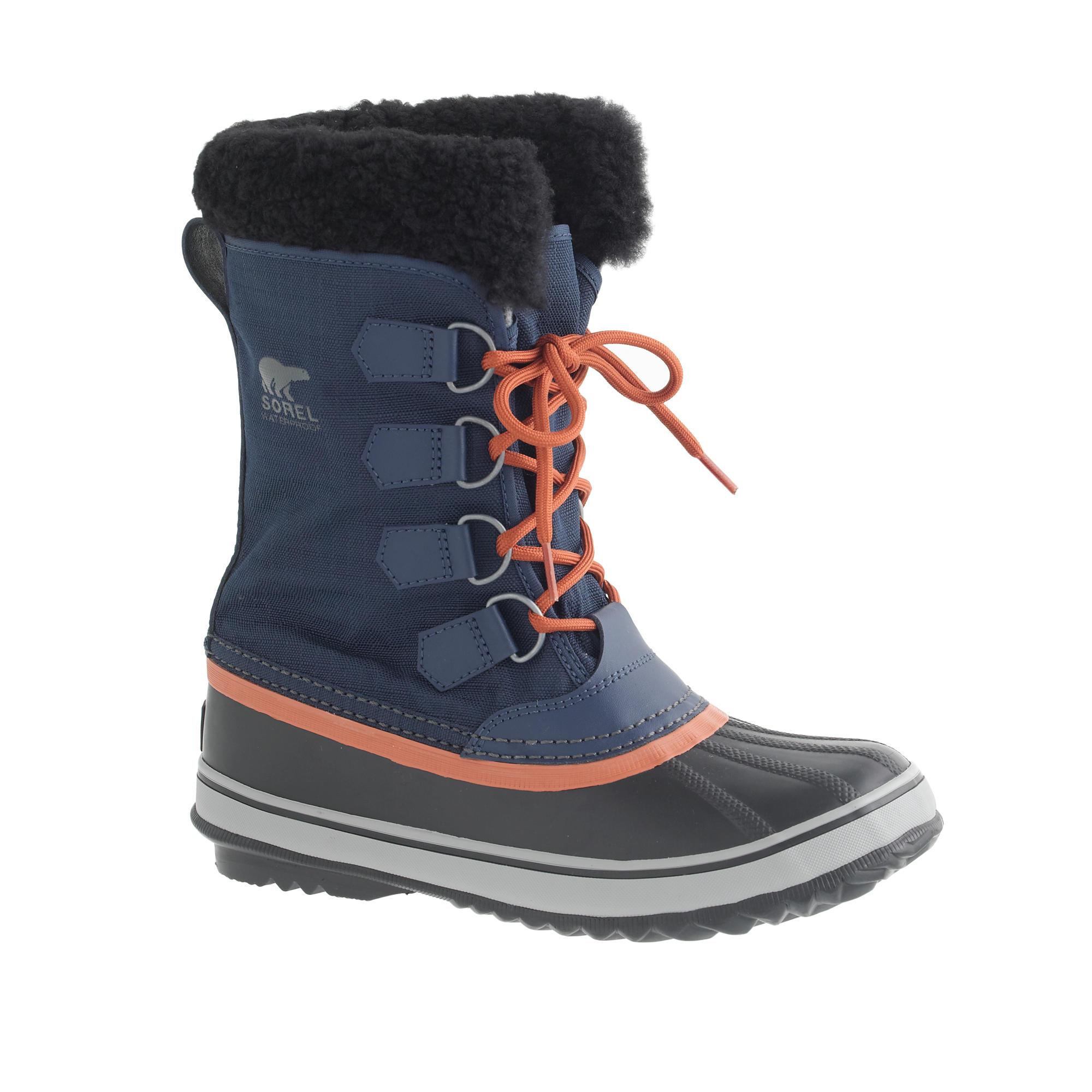 Jcrew Women39s Sorel Winter Carnival Boots In Blue Lyst
