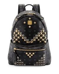 Lyst - Mcm Stark M Stud Medium Backpack in Black for Men