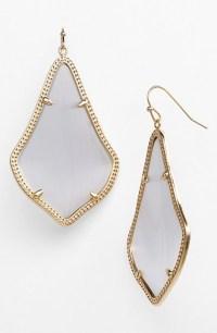 Kendra scott 'alexandra' Large Drop Earrings - Slate ...