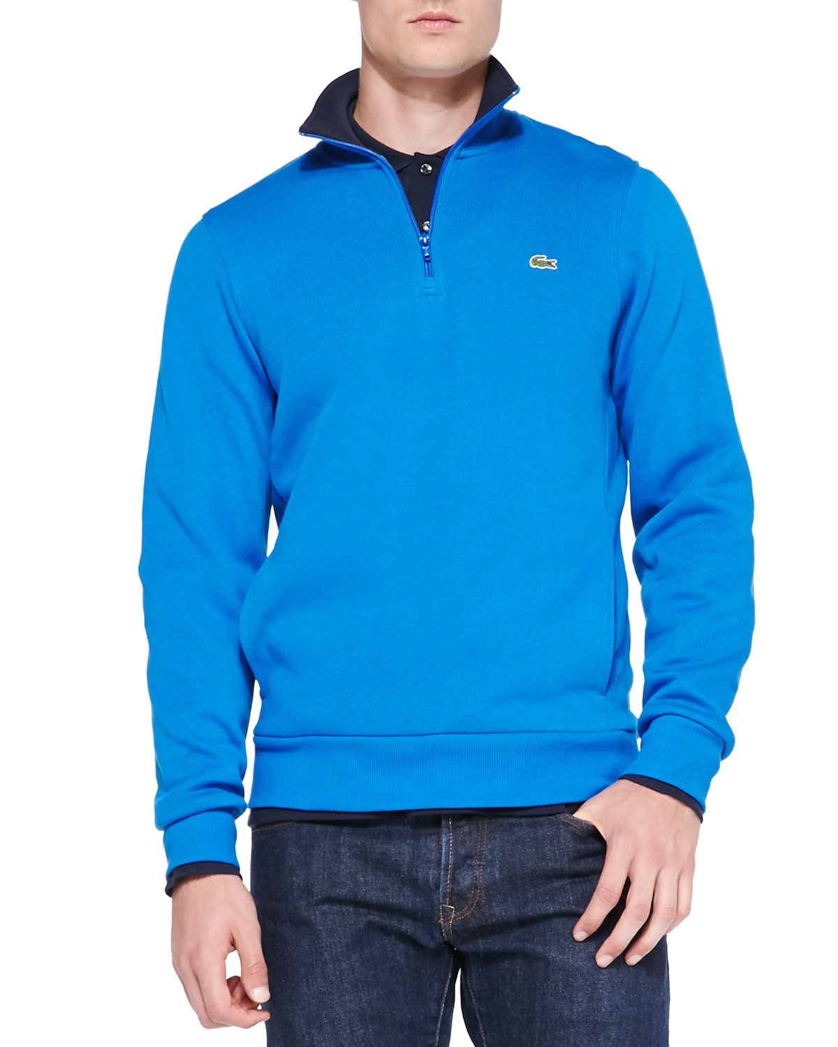 monogram half zip sweatshirt