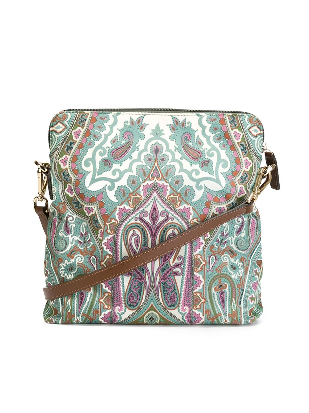 Etro Kissen Etro Floral Paisley Print Crossbody Bag In Green - Lyst