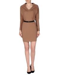 Alysi Short Dress in Beige (Camel) | Lyst